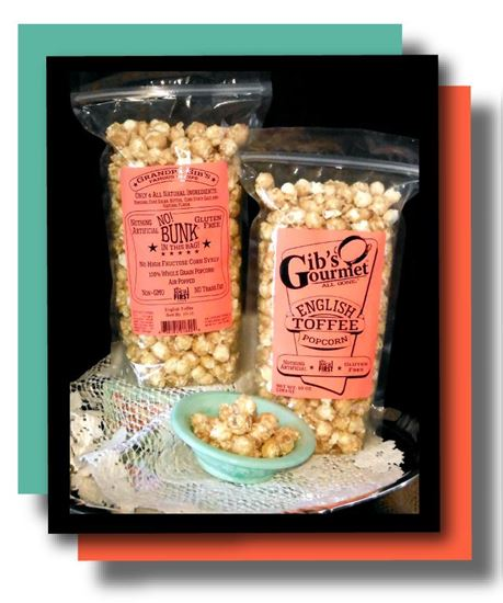Picture of Gib's Original English Toffee Popcorn 10 oz.